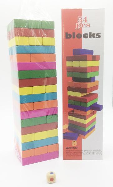 Jenga! Stapelspiel Holzturm 54 Stk