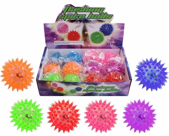 LED Stachelball 5,5 cm, blinkend, Igelball, Massagenball