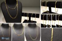 ca. 18.000 Stk goldfarbene Halsketten Armbänder Modeschmuck