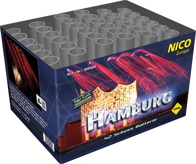 Hamburg 42 Schuss Batteriefeuerwerk
