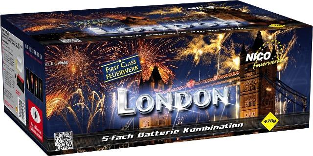 London 126 Schuss Batteriefeuerwerk