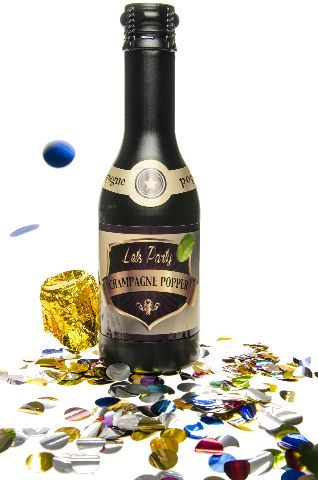 21-9360, PARTY POPPER 40 cm, Champagneflasche, Partypopper, Sektflasche, Konfetti Bombe, Partyknaller, Kostüm, Konfettibombe, Konfettishooter Hochzeit Party Silvester Trauung Liebe