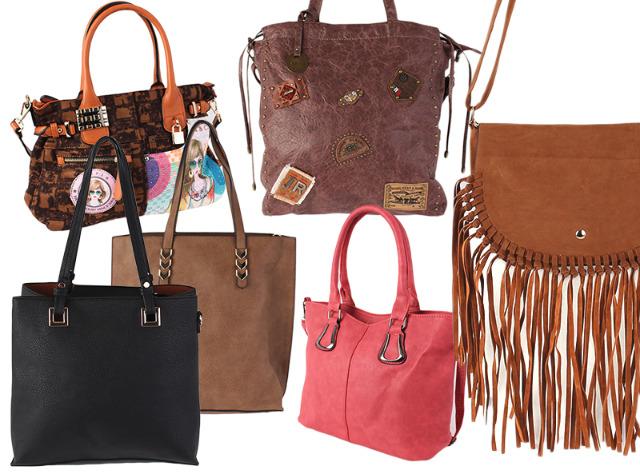 Damen Trend Taschen Tasche Shopper Handtasche Umhängetasche Schultertasche Mixposten - 6,49 Euro