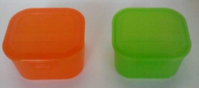 12-397300, RIVAL Lunchbox 13x11,5x7,5 cm mit Clipverschluss, Butterbrotdose, Obstdose, usw