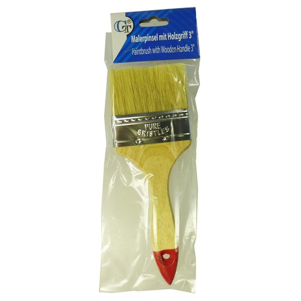 Malerpinsel Flachpinsel mit Holzgriff 3