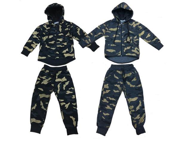 Kinder Jogging Anzug Sportanzug Trainingsanzug Jogginganzug Camouflage - 10,90 Euro
