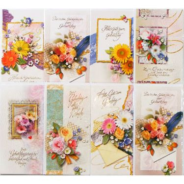 28-176195, Karten Geburtstag mit Blumen, Geburtstagskarten, Geschenkkarten
