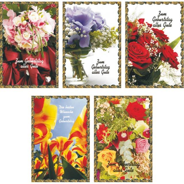 28-505401, Karten Geburtstag mit Blumen, Geburtstagskarten, Glückwunschkarten