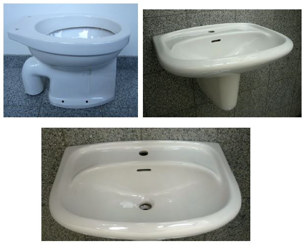 Sonderposten SPHINX Bad-Set Waschbecken+Halbsäule+WC in Weiss