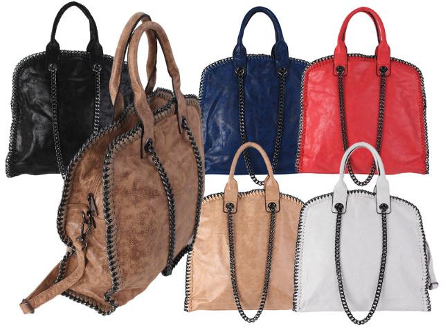 3d73e24cd3905 Damen Taschen Handtasche Schultertasche Umhängetasche Kettentasche Shopper  mit Ketten Lederlook - 13