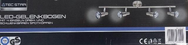 TEC STAR LED - Gelenkbogen Deckenleuchte Licht