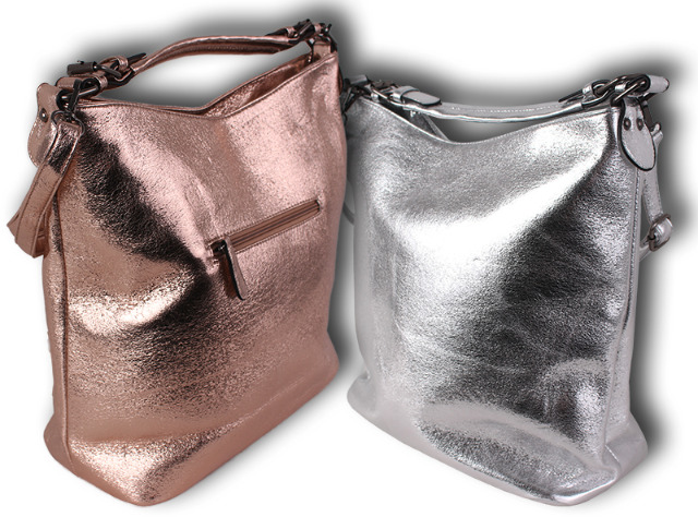 Damen Holo Taschen Silber Rosegold Glanz Glitzer Sparkle Metallic Glänzend Abendtasche Handtasche Schultertasche Umhängetasche Shopper - 14,90 Euro