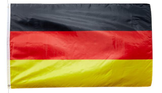 17-14708, BRD Fahne 90 x 150 cm, mit Ösen für Mast, Länder Flagge