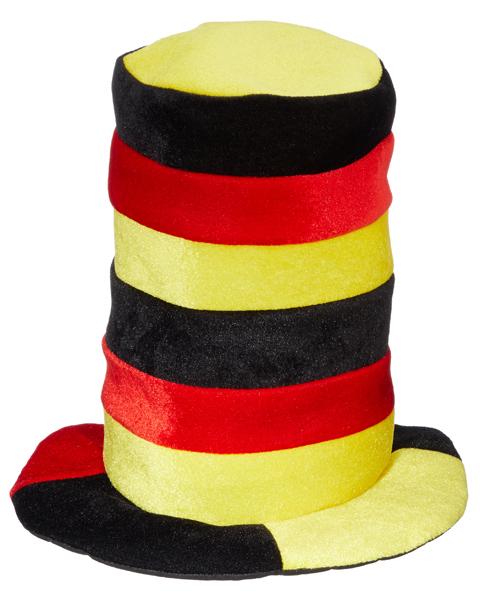 17-21059, Crazy Hat Deutschland Zylinder, BRD Farben, Flagge, BRD Farben, Fahne, Flagge, Party, Event, Fanmile