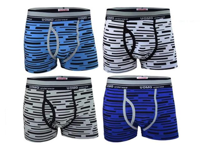 Herren Boxershorts Boxer Baumwolle Basic Hipster Short UOMO Underwear Unterwäsche Unterhosen mit Eingriff - 1,49 Euro