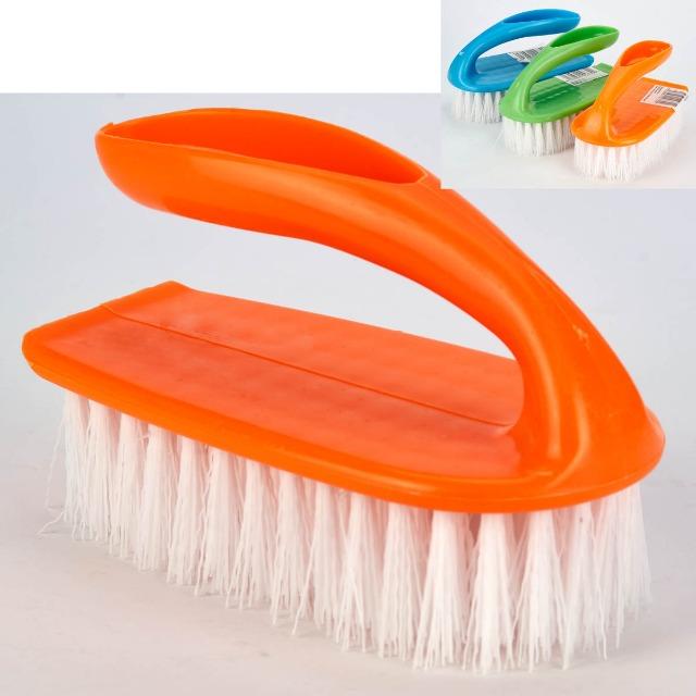 28-027399, Haushaltsbürste mit Griff, Handwaschbürste, Handbürste, Scheuerbürste Universalbürste