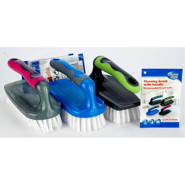 28-203631, Reinigungsbürste mit ergonomischem Griff, Handwaschbürste, Handbürste mit Griff, Scheuerbürste, Universalbürste
