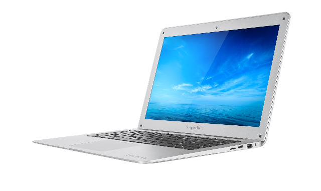 Krüger & Matz KM1403 Explore Ultrabook silberfarben 14 Zoll FullHD 4GB RAM QuadCore Notebook Laptop Netbook dünn flach 32GB Flash Intel Atom Internet surfen PC Computer FullHD Windows 10