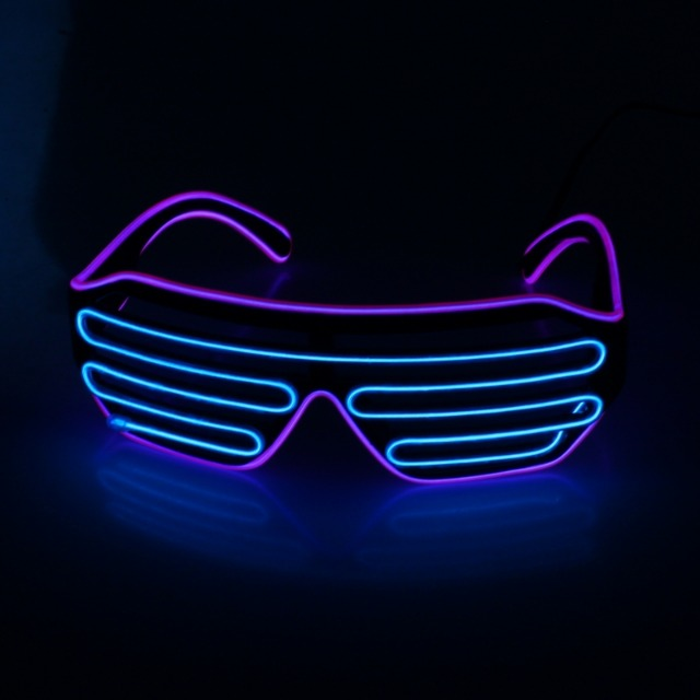 10-597090, Party-LED-Brille mit Ferbedienung mit LED Licht, Partybrille