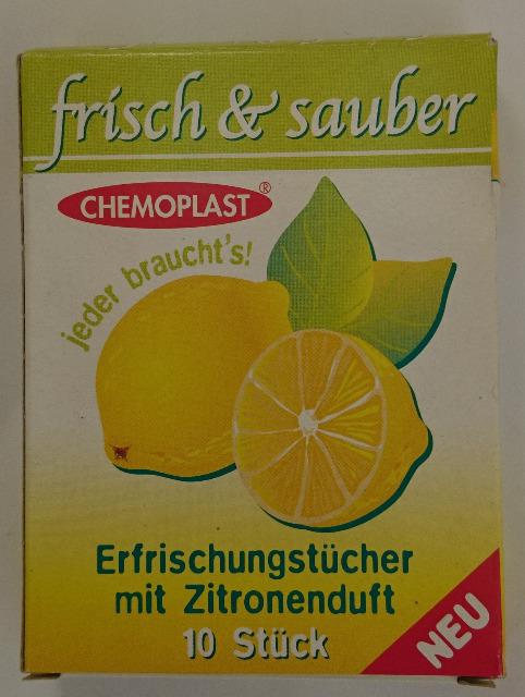 12-4002850, Erfrischungstücher 10 er Pack mit Zitronenduft