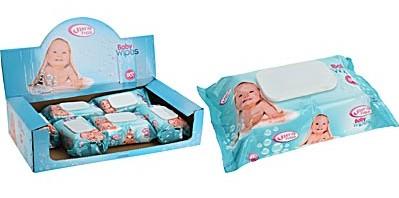 12-974000070, Baby Feuchttücher 80er Pack, ideal für unterwegs, Reise, Urlaub, Strand, Picknick, usw