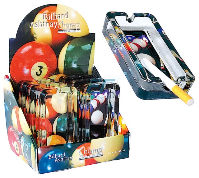 "Aschenbecher "" BILLIARD "" Glas"
