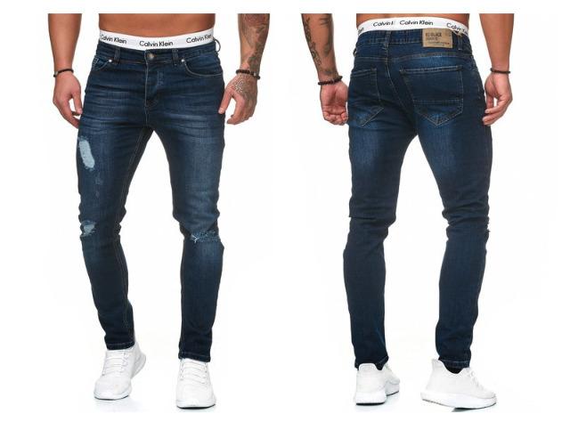 Modische Herren Jeanshose Vintage Destroyed-Look Slim-Fit Hosen Jeans Denim Washed - 14,90 Euro