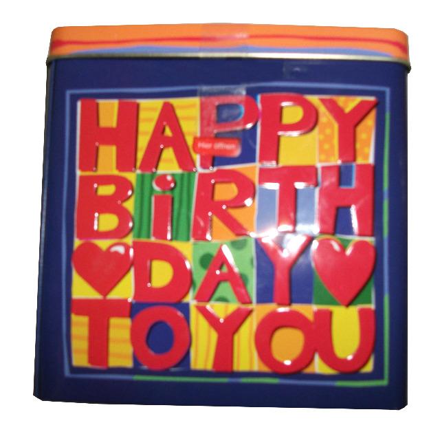 12-829289, Spieluhrdose Happy Birthday