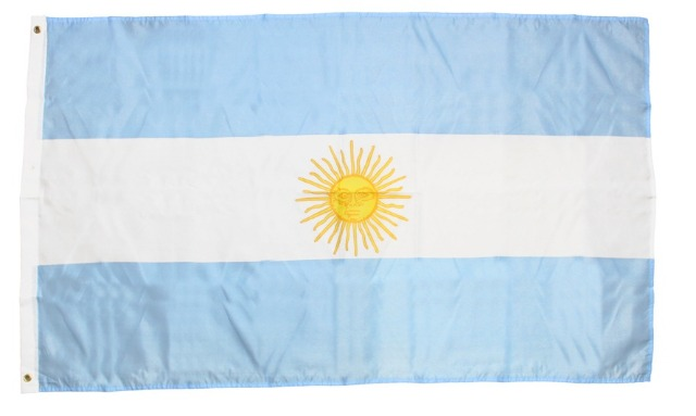 27-83825, Flagge Argentinien 150 x 90 cm Fahne mit Metallösen zum Aufhängen