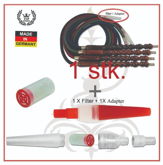 Shisha Schlauch set,  HOOKAH HOSE set,  Wasserpfeife Schlauch ca. 180 cm Länge + Adaptor und 1 Filter