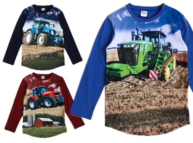 Kinder Jungen Traktor Sweatshirt Pullover Shirt Oberteil Langarm Kindershirt - 5,19 Euro