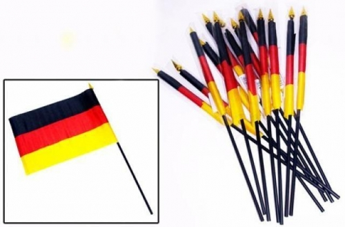 10-555900, Fahne BRD 22 x 15 cm, am Stab 30 cm, Stoff Flagge Deutschlandfahne, Fanartikel