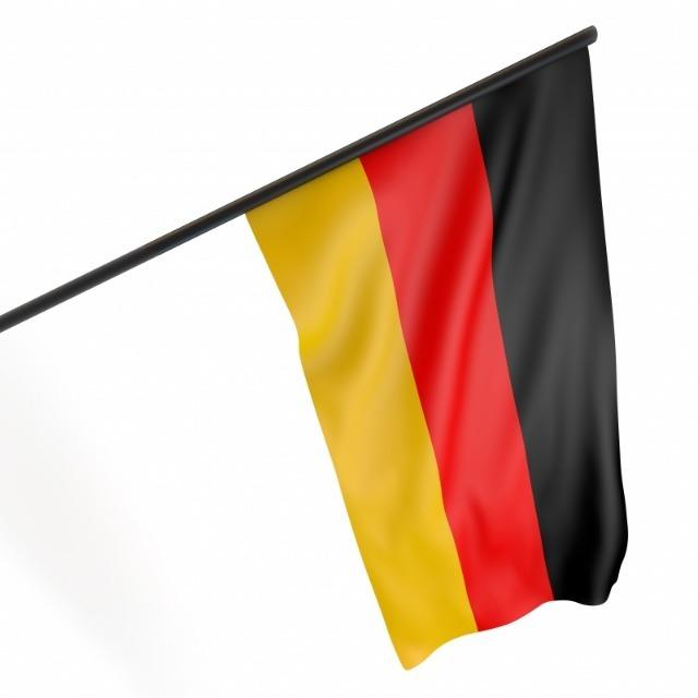 10-556199, Fahne Deutschland 90 x 60 cm am 120 cm Stab, wetterfest & witterungsbeständig, BRD Farben, BRD Fahne, Flagge, Fanartikel