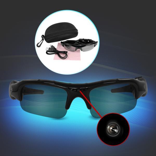 Action Videobrille VGA für Kamera-, Spionage-Aufnahmen, Micro SD Eaxus
