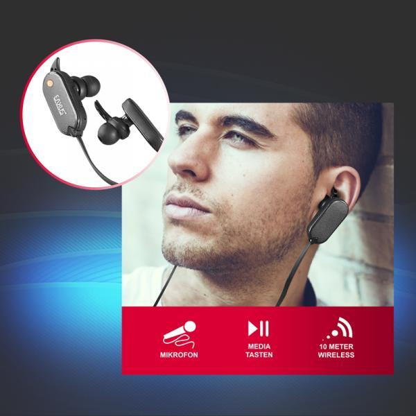 Wireless Stereo Headset mit Bluetooth V4.0, Musik und Freisprechfunktion Eaxus