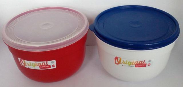 12-433073, Emsa Frischhalteschale mit extra softem Deckel, Rund/hoch, 2,25 L, Rot, Superline Colour