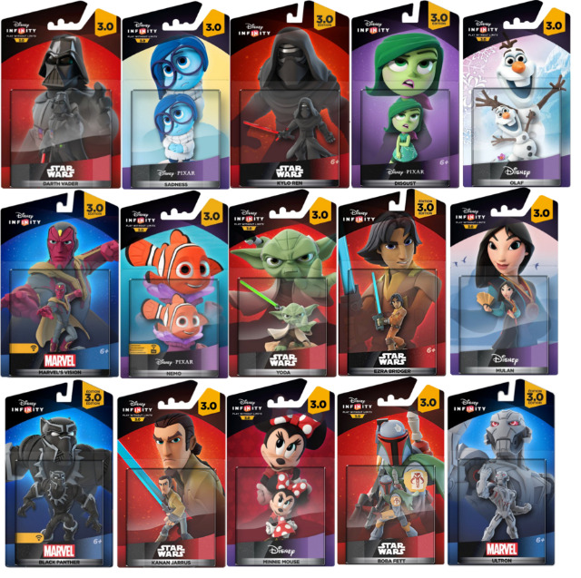 DISNEY INFINITY 3.0  STAR WARS MARVEL INSIDE OUT