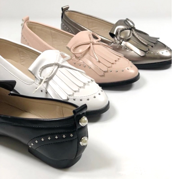 Damen Trend Mokkasin Loafer Metallic Nieten Perlen Schuhe Schuh Shoes Slipper Freizeit Schuh nur 10,49 EUR