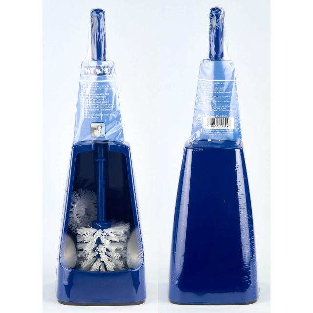 28-105504, WC-Garnitur 2 Komponenten, blau, mit praktischem Randreinger