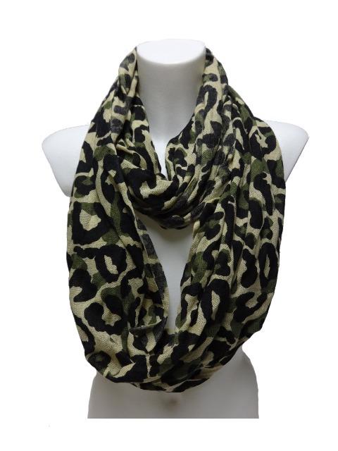 Grüne Leopardenmuster-Schals