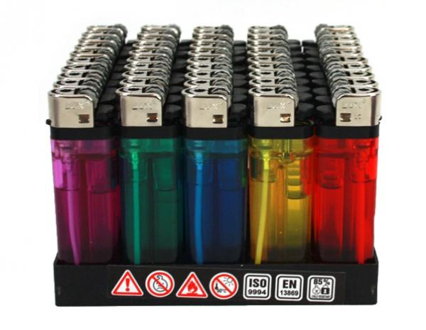 Einwegfeuerzeug  farblich sortiert - mit Kindersicherung