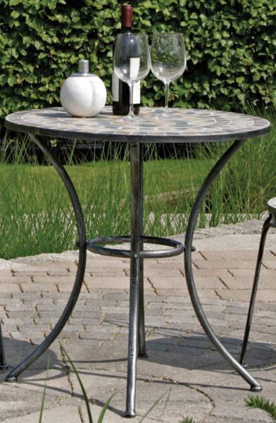 Gartentisch Rund Fiore Grau 60 Cm 14776047 Restposten De