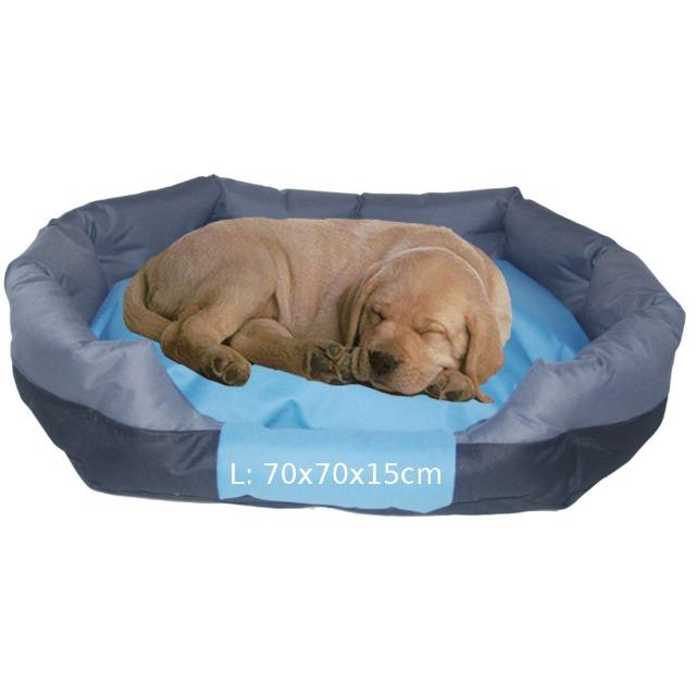 Hundebett TB5049L grau Hundekorb Hundekissen Hundesofa Tierbett Katzenbett