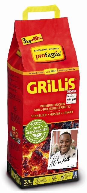 12-60001032, Sommer-Hit Grillis Briquettes 3,3 Kg + 10% Aktionsware Sommerhit, Grillkohle, Briketts, Buchenholz