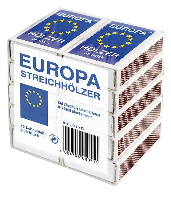 12-947346, Streichhölzer 10er Verpackung je ca. 40 Stück  Zündhölzer    KM 51 Europa