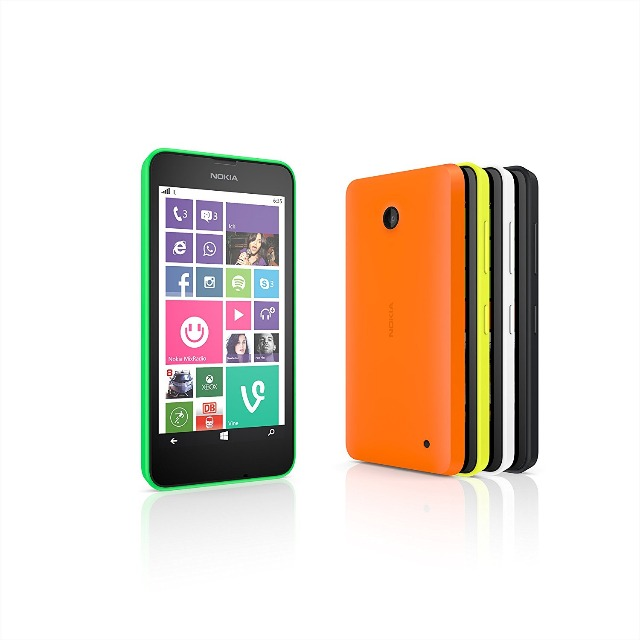 Nokia Lumia 630/635 Smartphone Mikro SIM (11,9 cm (4,5 Zoll) Touchscreen, 5 Megapixel Kamera, Win 8.1)