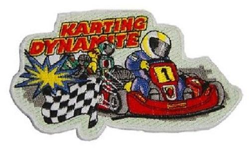 5 x Aufnaeher 10,1 x 5,8 cm Kart Karting