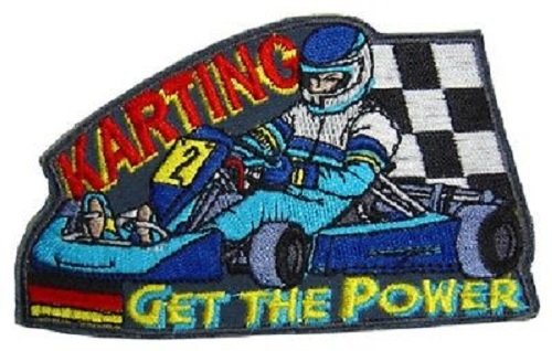 Set 5 x Aufnaeher 10 x 6,2 cm Get the Power Karting