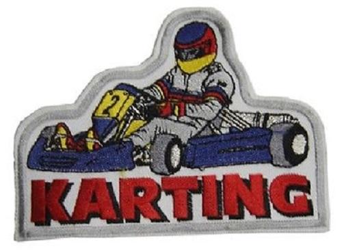 Set 5 x Aufnaeher 11,5 x 7,8 cm Kart Karting