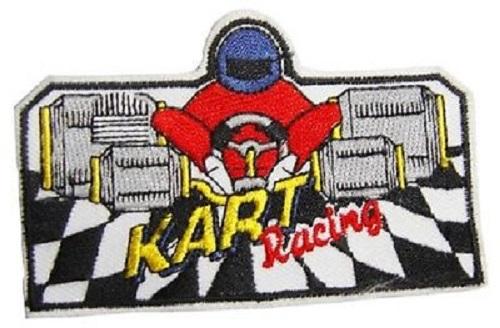 Set 5 x Aufnaeher 8,5 x 5,5 cm Kart Racing Karting